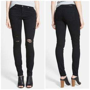 Paige Transcend Verdugo Ultra Skinny Jeans [Black]